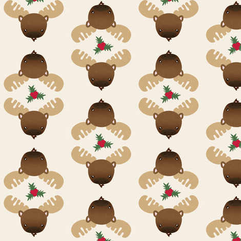 Moose fabric by kulikuli on Spoonflower - custom fabric