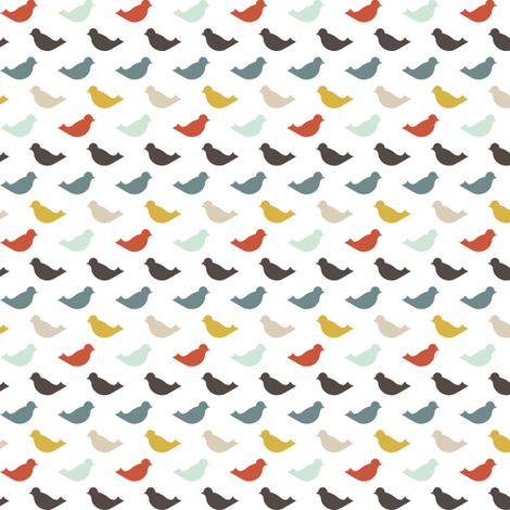 bluebird fabric by mrshervi on Spoonflower - custom fabric