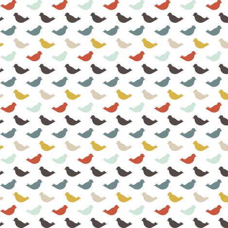 blue bird fabric by mrshervi on Spoonflower - custom fabric