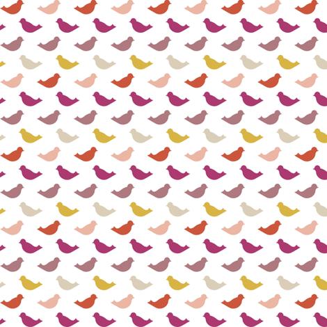 pinkbird fabric by mrshervi on Spoonflower - custom fabric