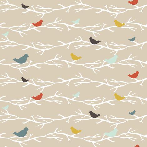 TreetopBlueBirds fabric by mrshervi on Spoonflower - custom fabric