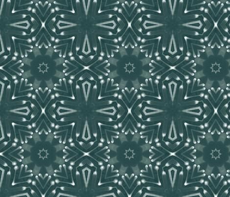 schraegerfuerst, kaleidoskop, snow fabric by schraegerfuerst on Spoonflower - custom fabric