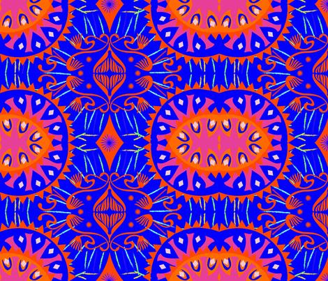 Africalia Blue fabric by maruqui on Spoonflower - custom fabric