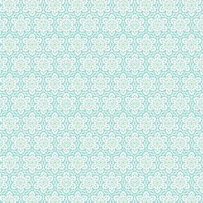 Snowflake Lace    -aqua1