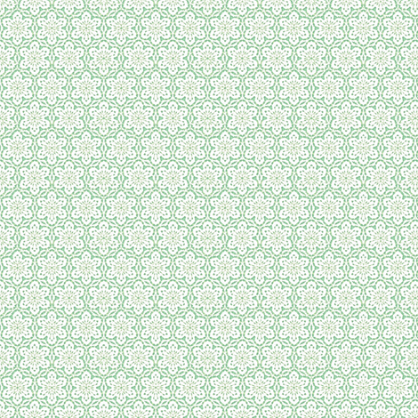 Snowflake_Lace___-mint_green fabric by fireflower on Spoonflower - custom fabric