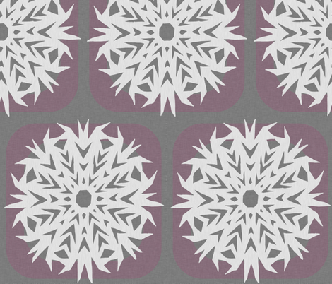 snowflakes on the window fabric by amordenti on Spoonflower - custom fabric