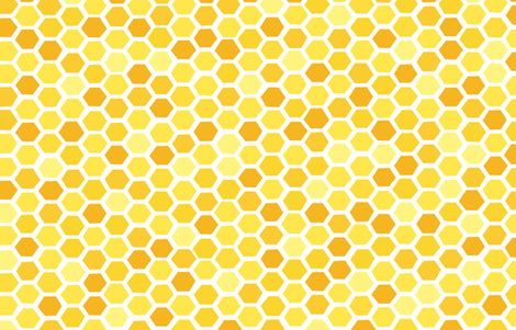 Beehive Yellow Hues by Friztin fabric by friztin on Spoonflower - custom fabric