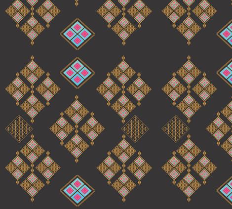Egyptian Daimonds fabric by kelebek_rose_designs on Spoonflower - custom fabric