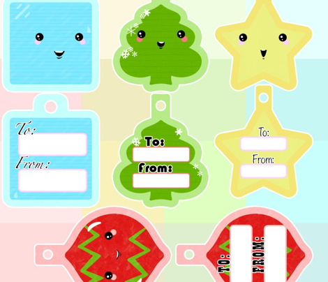 Cute Kawaii Gift Tag