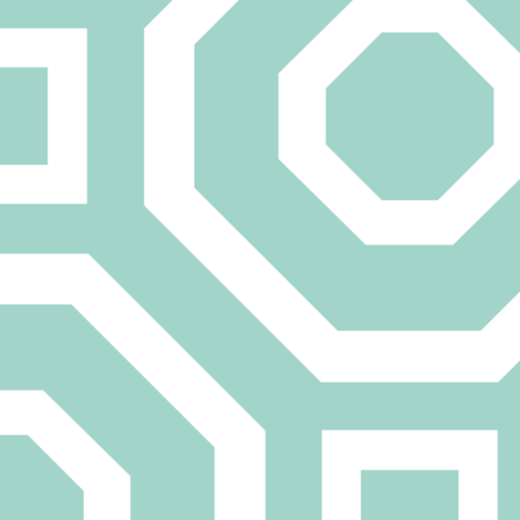 Geometry Mint fabric by alicia_vance on Spoonflower - custom fabric