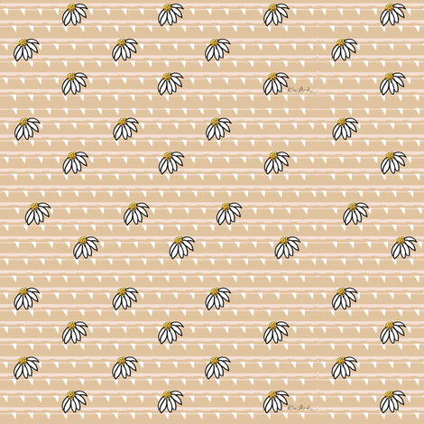 Daisies fabric by kiniart on Spoonflower - custom fabric