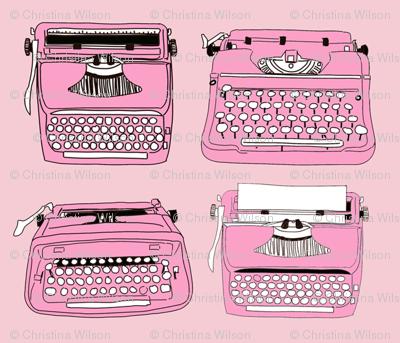 Typewriters Pink