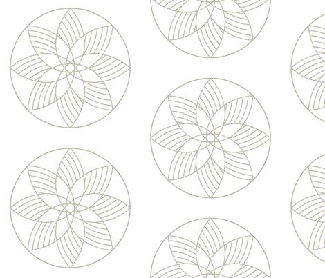 The Fantastic Machine - Gold fabric by penina on Spoonflower - custom fabric