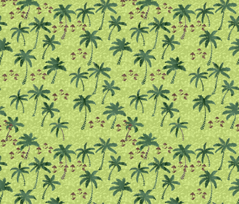 palm trees fabric by zandloopster on Spoonflower - custom fabric