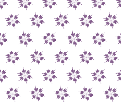 flower fade purple on white fabric by kellyjade on Spoonflower - custom fabric
