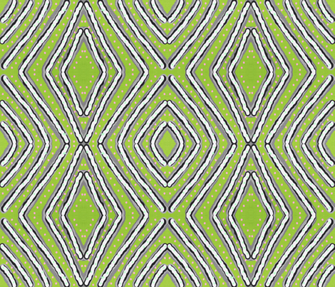A maze in mirror repeat fabric by anniedeb on Spoonflower - custom fabric