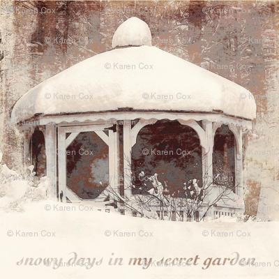 Snowy Days in my Secret Garden