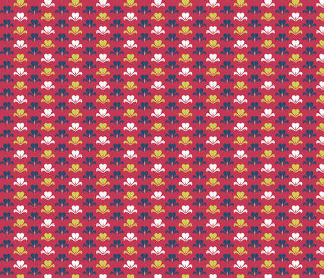 Paper Hearts Red fabric by cricketswool on Spoonflower - custom fabric