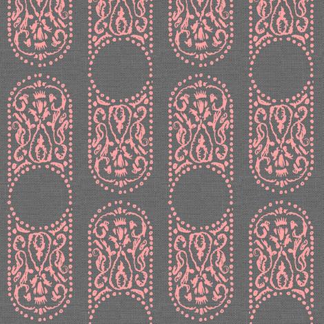 AMEERA - smoke and blush fabric by marcador on Spoonflower - custom fabric