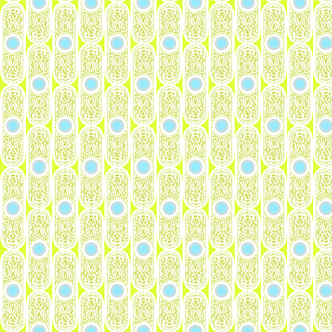 CARTOUCHE - hyper green and robin's egg fabric by marcador on Spoonflower - custom fabric
