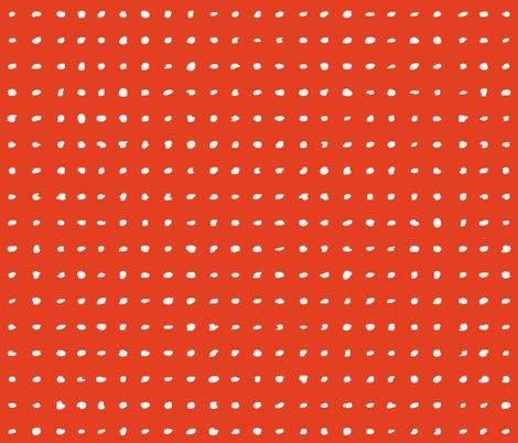 Polka Dots - Targerine Tango fabric by friztin on Spoonflower - custom fabric
