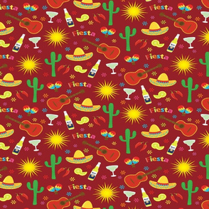 Fiesta Fabric Wallpaper Gift Wrap Spoonflower