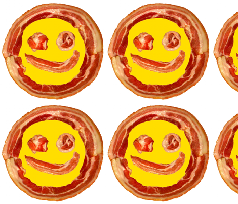 Bacon Face round placemats  fabric by paragonstudios on Spoonflower - custom fabric