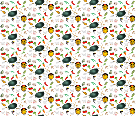 CHINESE KITCHEN fabric by bluevelvet on Spoonflower - custom fabric