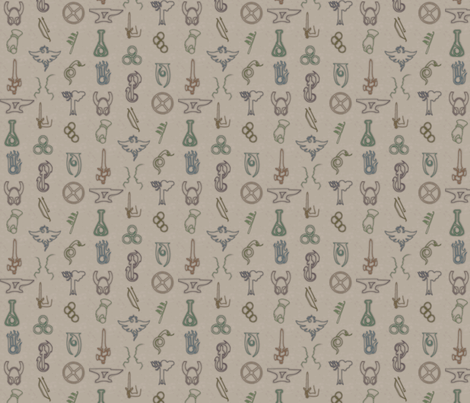 Elder Scrolls - Small fabric by terridee on Spoonflower - custom fabric