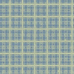 Asian plaid - blue/green