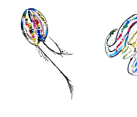 Comb Jellies fabric by emilycoren on Spoonflower - custom fabric