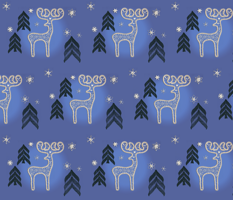 Lace Reindeer fabric by julielace on Spoonflower - custom fabric
