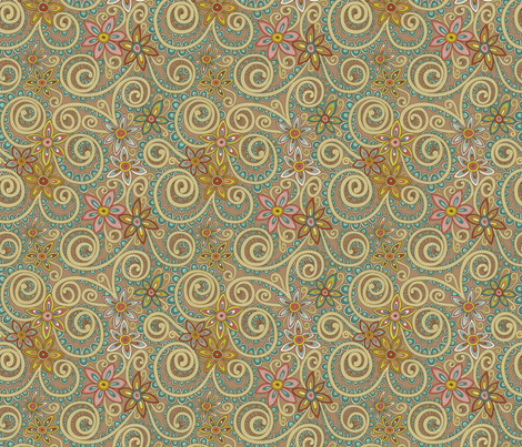 Eclectic Gypsyland fabric by groovity on Spoonflower - custom fabric