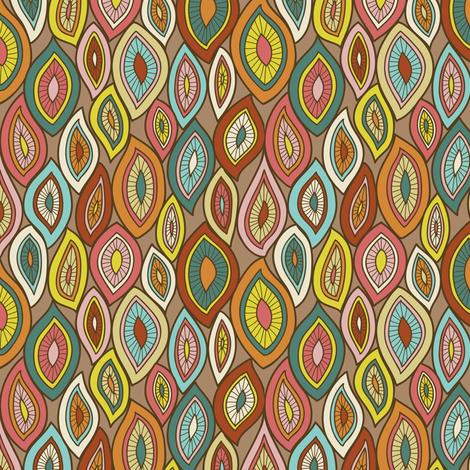 Enchanted Gypsy Leaves fabric by groovity on Spoonflower - custom fabric