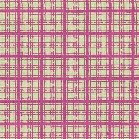 Asian plaid - plum/green fabric by materialsgirl on Spoonflower - custom fabric