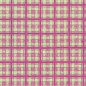 Asian plaid - plum/green