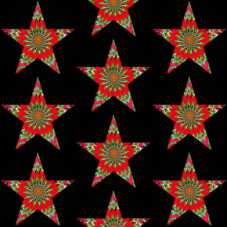 HOLIDAY ORNAMENT STARS 5 fabric by dovetail_designs on Spoonflower - custom fabric