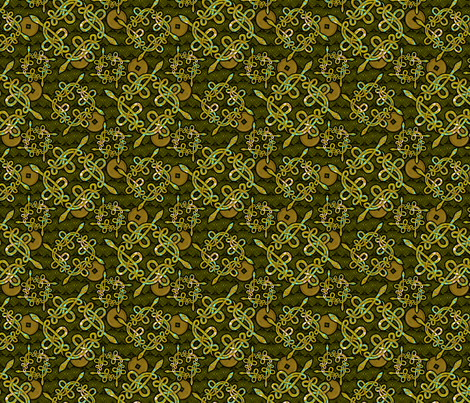 snake_knots_green fabric by glimmericks on Spoonflower - custom fabric