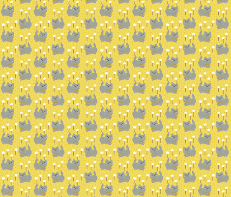 Sunny Morning Kittens fabric by thalita_dol on Spoonflower - custom fabric
