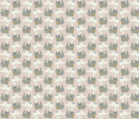 1 kitten, 2 kittens fabric by thalita_dol on Spoonflower - custom fabric