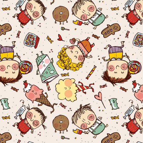fun at the fairground fabric by laurawrightstudio on Spoonflower - custom fabric