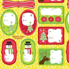 Festive Holiday Present Tags