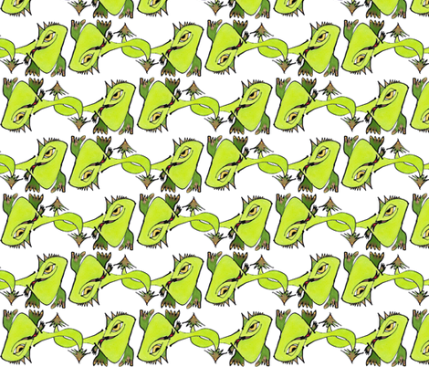 Golden Eyed Dragon, block fabric by whimsikate on Spoonflower - custom fabric