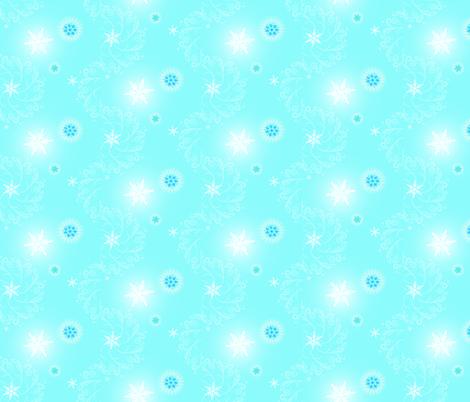 Snowflake Magic fabric by leahvanlutz on Spoonflower - custom fabric