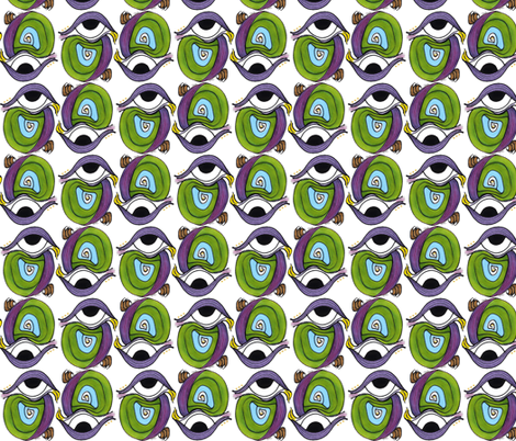 Eye of Parrot fabric by whimsikate on Spoonflower - custom fabric