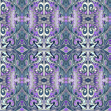 Hippy Drippy Trippy Love in Lavender fabric by edsel2084 on Spoonflower - custom fabric