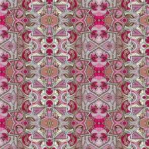 Valentine Hearts and Flowers vertical stripe