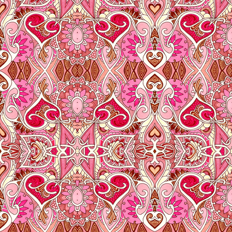 Simple Hearts and Simple Pleasures fabric by edsel2084 on Spoonflower - custom fabric