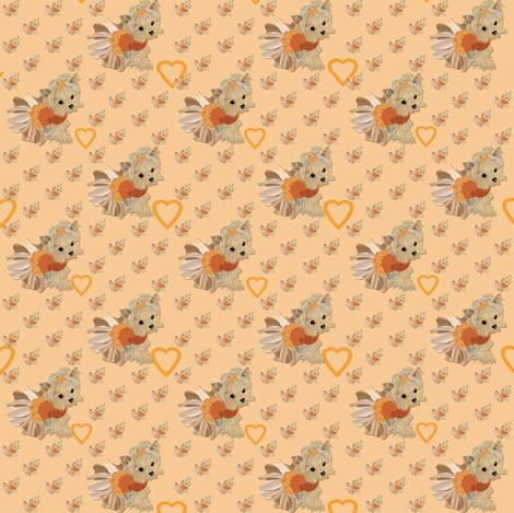 Little Yorkie Peachy fabric by sherry-savannah on Spoonflower - custom fabric