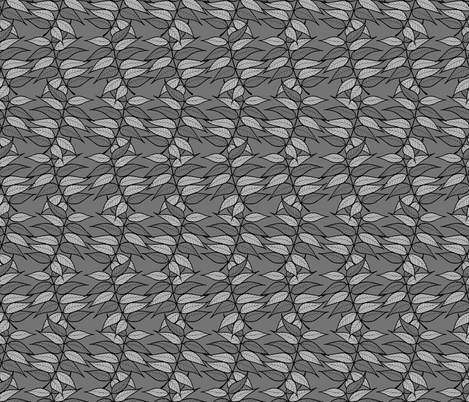 chinese pistache - grey fabric by origami_fox on Spoonflower - custom fabric